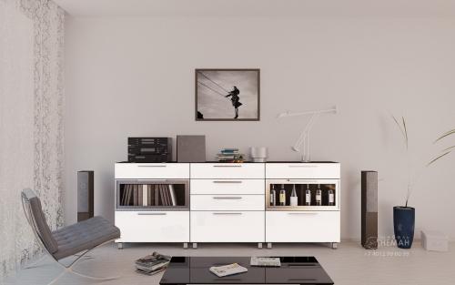 глянцевая мебель белая каталог доставка